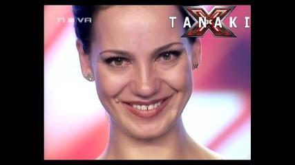Жена със страхотен глас изправи журито на крака - X - Factor България 11.09.11
