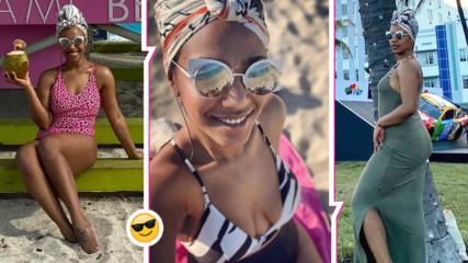 Прея показа изящно тяло по плажовете на Маями,  певицата се стопи до неузнаваемост