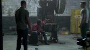 Зад кулисите на сцената след надписите на филма Ант - Мен (2015)