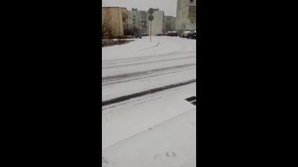 Сняг в Шумен 03.01.2016