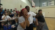 Wwe joins a Special Olympics 2014 Usa Games Basketball Game in North Carolina