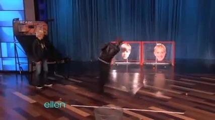 Justin Bieber in ellens show 09/02/2011