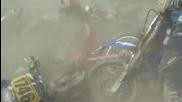 Верижна катастрофа с кросови мотори!