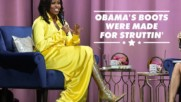 You have to see Michelle Obama's sequin thigh high boots