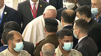 Iraq: Pope Francis leaves al-Sistani's residence after meeting in Najaf