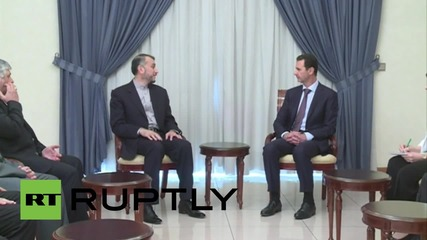 Syria: Assad meets with Iranian representative and discusses conflict