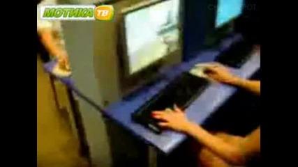 Руснак губи на Counter Strike от жена и побеснява !