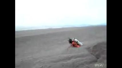 езеро в пепел от вулкана, Puyehu