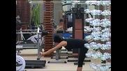 Златка загрява преди тренировка във фитнеса - Vip Brother 03.11.2012