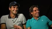 Федерер и Надал не могат да спрат смеха си :d:d