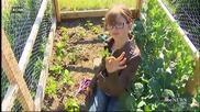 9 годишно момиченце строи заслони за бездомници