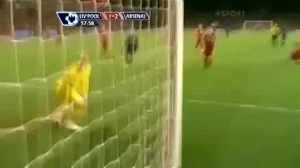 Liverpool 1 - 2 Arsenal - Arshavin Goal