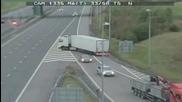 Шофьор на Тир прави обратен завой на магистрала