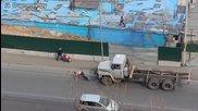 Съвременен руски Бурлак във Владивосток