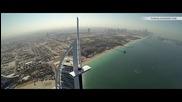 Красиви гледки от високо над Бурж Халифа и Дубай