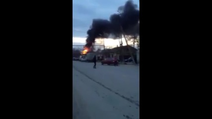 Russia: See moment massive explosion engulfs Dagestan filling station