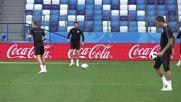 Russia: Croatia's Modric and Rakitic train ahead of Argentina clash