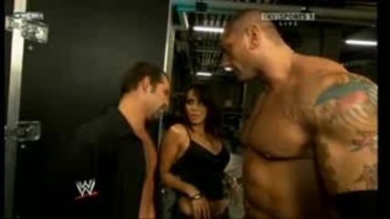 Jamie Noble backstage w Layla Batista