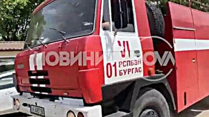 Пожар избухна във вилната зона край Бургас
