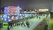 Russia: Winter comes to Moscow as huge ice rink opens in Gorky Park