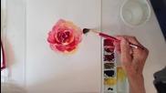 Как да нарисуваме роза с акварел в импресионистичен стил /от Irmgard Rawn/