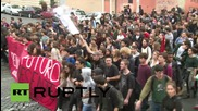 Italy: Students rally against Renzi's reforms outside Ministry of Education