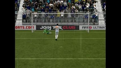 Fifa 13 - Дузпи срещу Totham (w/ Santos)