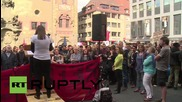 Germany: Activists march in solidarity with refugees in Wurzburg