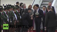 Germany: Japan's PM Shinzo Abe arrives in Munich for G7 summit