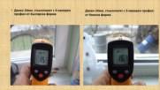 Презентация и температурни тестове на дограма Трокал с троен стъклопакет - дебелина 40 mm.