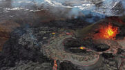 Iceland: Drone captures spectacular images of ongoing eruption at Fagradalsfjall volcano