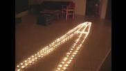 Изумителна илюзия със свещи!