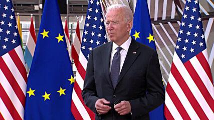 Belgium: Michel, von der Leyen welcome Biden at EU-US summit in Brussels