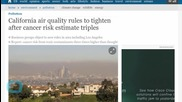 California Air Quality Rules to Tighten After Cancer Risk Estimate Triples