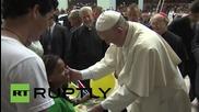 Cuba: Pope Francis blesses children, addresses Havana cultural centre