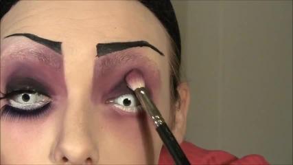Ond dukke (evil Doll) - Halloween makeup