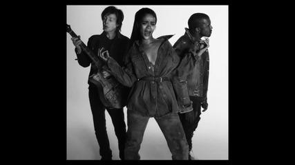 Rihanna ft. Kanye West And Paul Mccartney - Fourfiveseconds   Официално Видео  