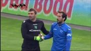 Спорната ситуация за дузпа в полза на Левски срещу Лудогорец