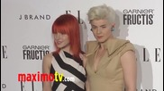 Hayley Williams and Robyn at Elle's Women In Music 2011