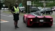 Ferrari P4_5 driving away