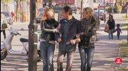 Под ръка с две жени - скрита камера