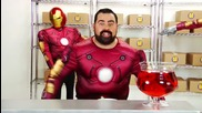 Iron Man Suits Billy Mays with Shay Carl