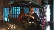 Chuck, Zachary Levi и Yvonne Strahovski в шоуто Lopez Tonight