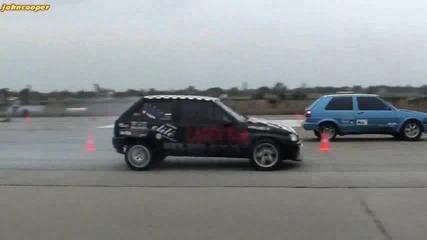 Vw Golf 2 Turbo vs Opel Corsa Gsi Turbo