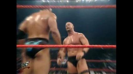 The Rock vs Kurt Angle vs Rikishi vs Stone Cold Steve Austin
