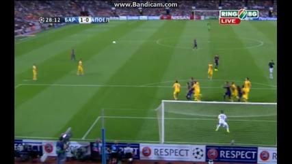 Барселона 1:0 Апоел (бг аудио)