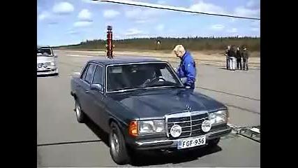 Драг с Mercedes W123 Diesel