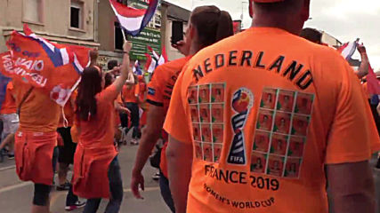 France: Dutch fans dance their way to stadium ahead of Japan clash