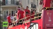 Spain: Sevilla FC fans go wild after retaining Europa League title