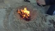 Палене на огън с магнезиева запалка